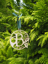 Load image into Gallery viewer, Personalised Initial Wooden Christmas Bauble Gift Present Tag
