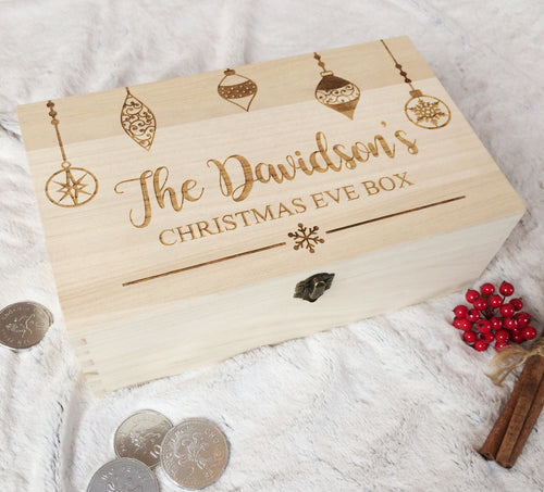 Personalised Christmas Eve Box Bauble Design