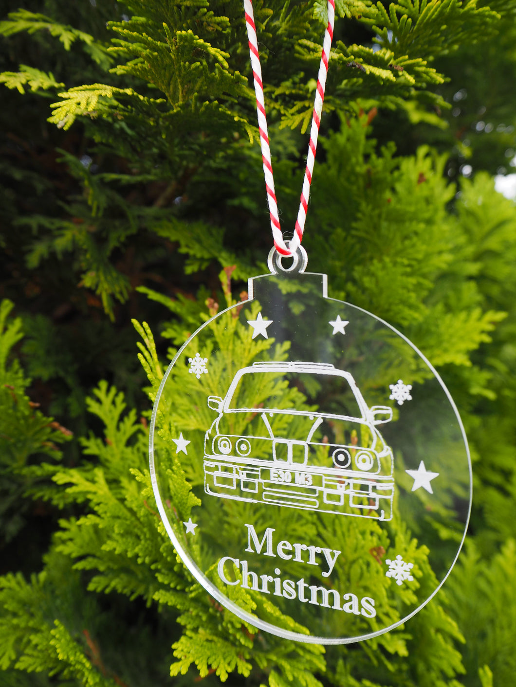 BMW E30 3 Series M3 M Sport Personalised Christmas Bauble