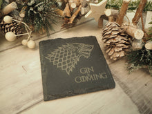 Load image into Gallery viewer, Game Of Thrones 'Beer / Gin / Wine / Tea / Coffee Is Coming' Coaster