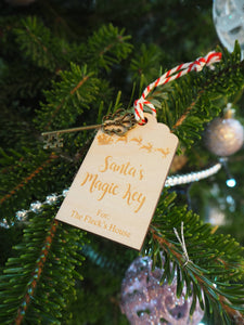 Personalised Santa's Magic Key and Tag Gift Present