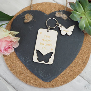 Personalised Butterfly Keyring