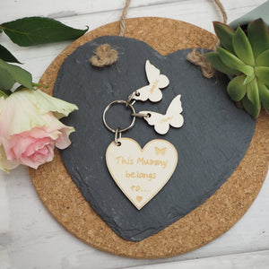 Personalised 'This Mummy belongs to....' Keyring Gift Present