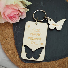 Load image into Gallery viewer, Personalised Butterfly Keyring