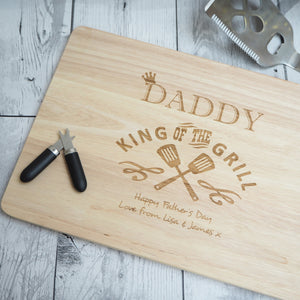 Personalised Chopping Board King Of The Grill