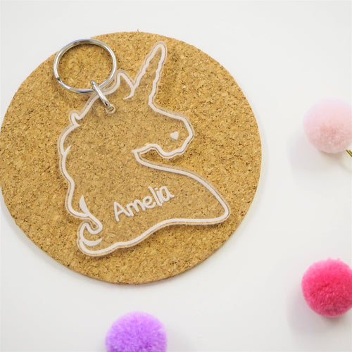 Unicorn Bag Tag / Keyring & Luggage Tag Birthday Gift School Bag