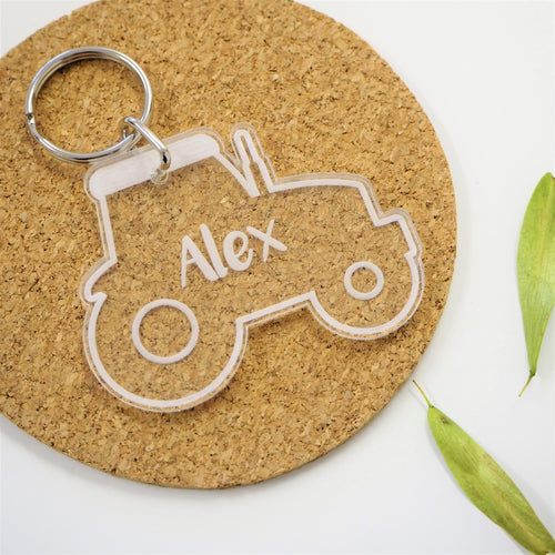 Personalised Tractor Bag & Luggage Tag / Keyring