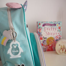 Load image into Gallery viewer, Penguin Bag Tag / Personalised Keyring & Luggage Tag