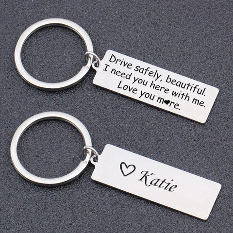 personalized keychain gift for your girlfriend, wife, mom or your daughter on Christmas day, Valentine's day, mother's day, birthday