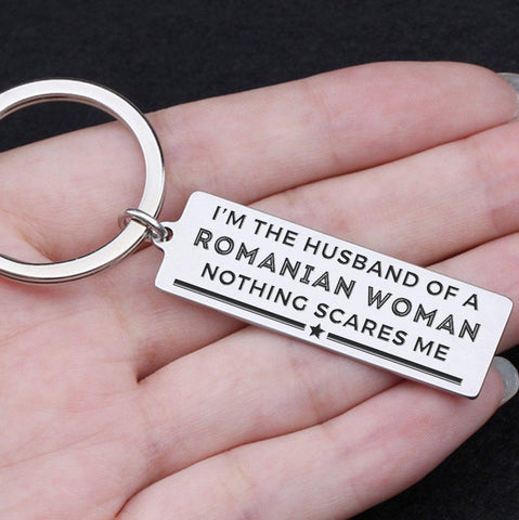 engraved keychain for husband