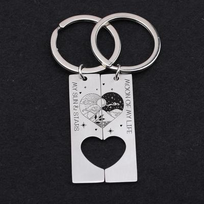 heart coordinating keychains for couples