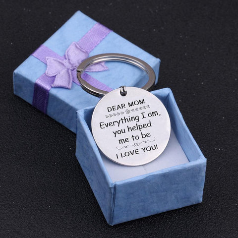 dog tag engraved keychain for mom