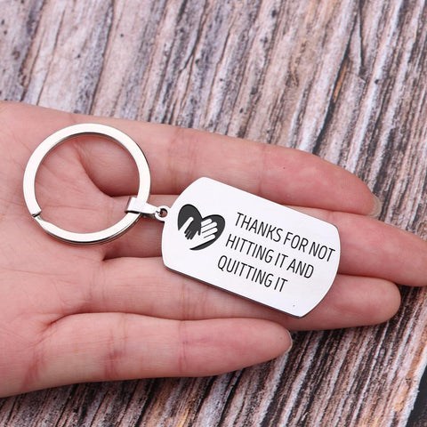 engraved dog tag keychain for dad