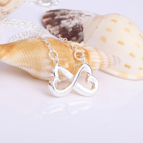 infinity heart necklace for girlfriend, wife