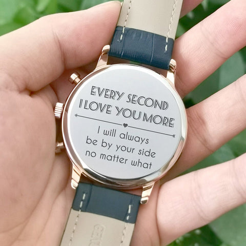 luxury watch with engraved message
