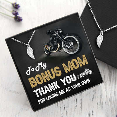 Angel Wing Necklace - My Bonus Mom - Thank You For Loving Me As Your Own - Gnbk19003