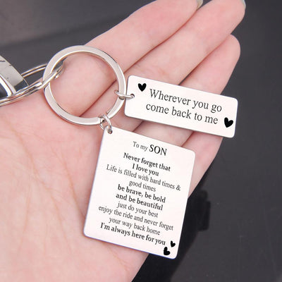 Calendar Keychain - To My Son - Never Forget That I Love You - Gkr16001