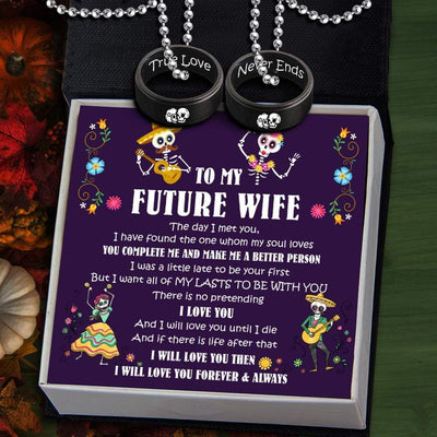 Couple Pendant Necklaces - To My Future Wife - My Lasts To Be With You - Gnw25018