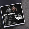 Couple Wolf Pendant Necklaces - To My Boyfriend - I Will Love You Till The End Of Time - Gnbd12001