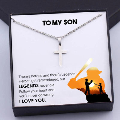 Cross Necklace - To My Son - Follow You Heart And You'll Never Go Wrong - Gng16012