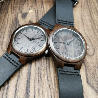 D2201 - To My Fiancee - I Didn't Fall In Love - Wooden Watch