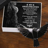 Dark Raven Necklace - My Shieldmaiden - The Day I Met You I Found My Missing Piece - Gncm13004