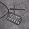 Dog Tag Cross Necklace - To My Grandson - I Love You This Much - Gnew22006