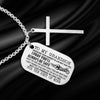 Dog Tag Cross Necklace - To My Grandson - I Pray You'll Always Be Safe - Gnew22007