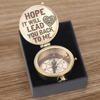 Engraved Compass - Biker - Hope It Will Lead You Back To Me - Gpb26002