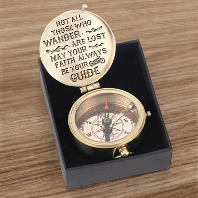 Engraved Compass - Biker - Not All Those Who Wander Are Lost - Gpb26006