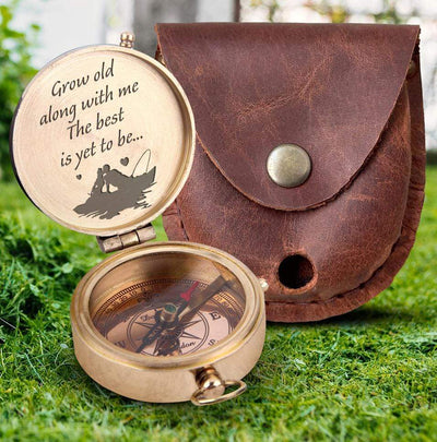 Engraved Compass - For Your Loved One - Grow Old Along With Me - Gpb26098
