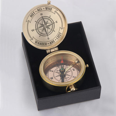Engraved Compass - Not All Who Wander Are Lost - Gpb26034