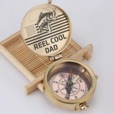 Engraved Compass - Reel Cool Dad - Gpb18007