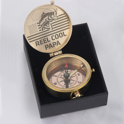 Engraved Compass - Reel Cool Papa - Gpb20001