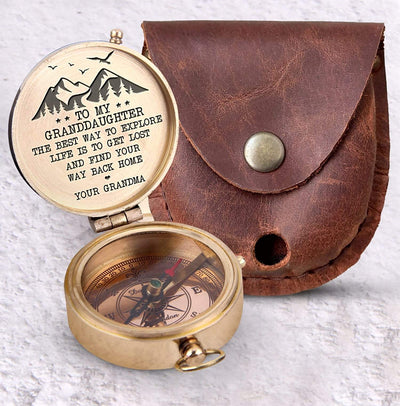 Engraved Compass - To My Granddaughter - The Best Way To Explore The Life Is To Get Lost And Find Your Way Back Home - Gpb23006