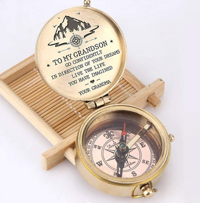 Engraved Compass - To My Grandson - Live The Life You Have Imagined - Gpb22013