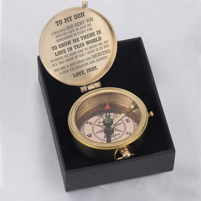 Engraved Compass - To My Son, You Are A Gift From The Heavens - Love, Mom - Gpb16005