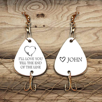 Engraved Fishing Hook - To My Girlfriend - Maybe God Just Kinda Likes You And Me To Go Fishing Forever Together  - Gfa13002