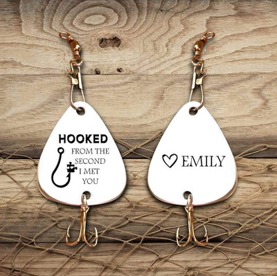 Engraved Fishing Hook - To My Husband - Hooked From The Second I Met You - Gfa14002