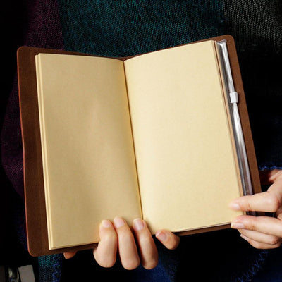 Engraved Leather Notebook - To My Dad, I Will Never Outgrow A Place In Your Heart - Gda18002