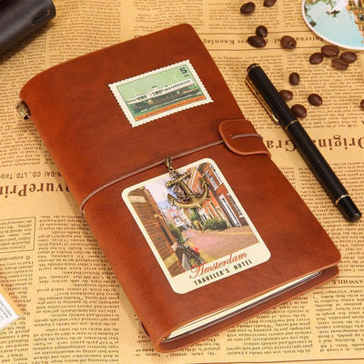 Engraved Leather Notebook - To My Girlfriend, I Wish I Could Turn Back Time - Gda13003