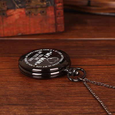 Engraved Pocket Watch - My Man - You Are My Reel Love - Gwa26009