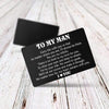Engraved Wallet Card - No Matter How Far, My Heart Remains With You - Gca26007