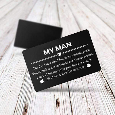 Engraved Wallet Card - The Day I Met You I Found My Missing Piece - Gca26004
