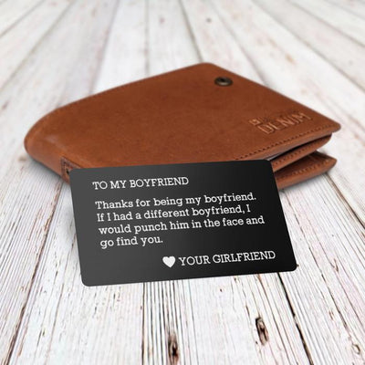 Engraved Wallet Card - To My Boyfriend - Gca12001