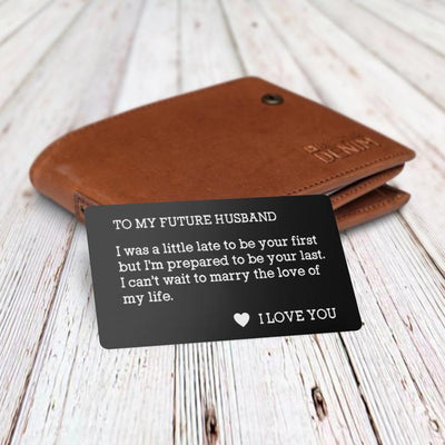 Engraved Wallet Card - To My Future Husband - Gca24001