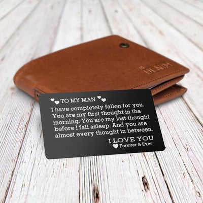 Engraved Wallet Card - To My Man - Gca26001