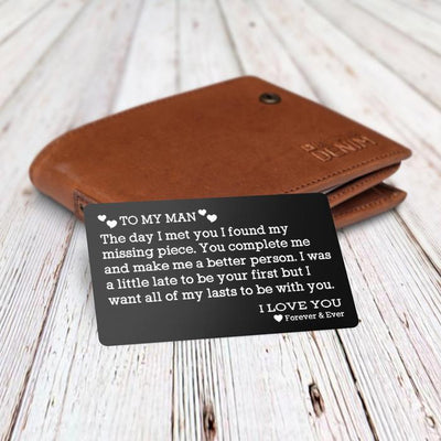 Engraved Wallet Card - To My Man - Missing Piece - Gca26003