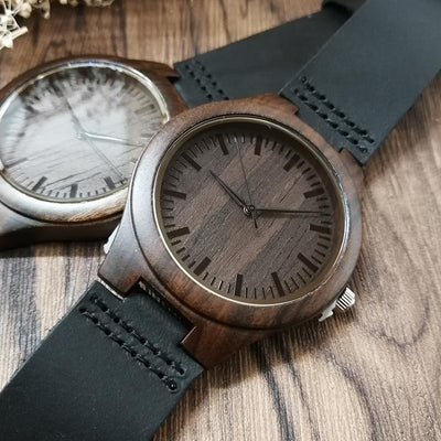 Engraved Wooden Watch - Beyond My Control - My Husband - W1606