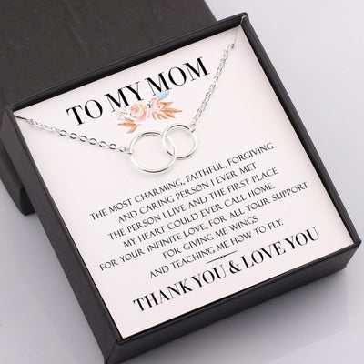 Gni19002 - To My Mom - My Heart Could Ever Call Home - Linked Rings Necklace